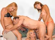 Big Cock She Male Gang Bang #04, Scene #03