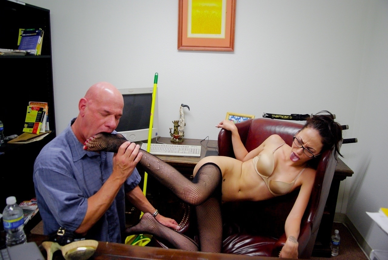 Handsome janitor is often fucking his smoking hot lady boss because she likes his hard dick