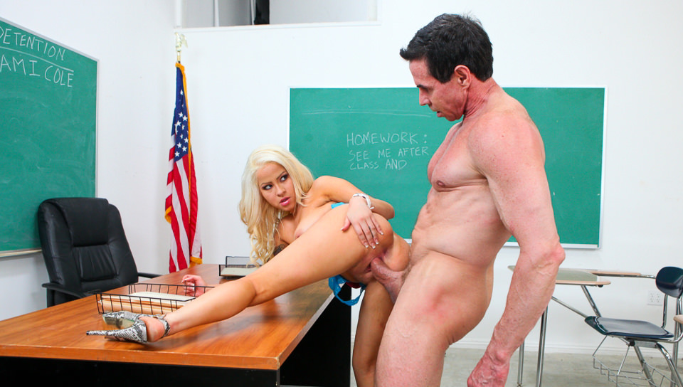 Peter North Is The Nasty Teacher – Cami Cole