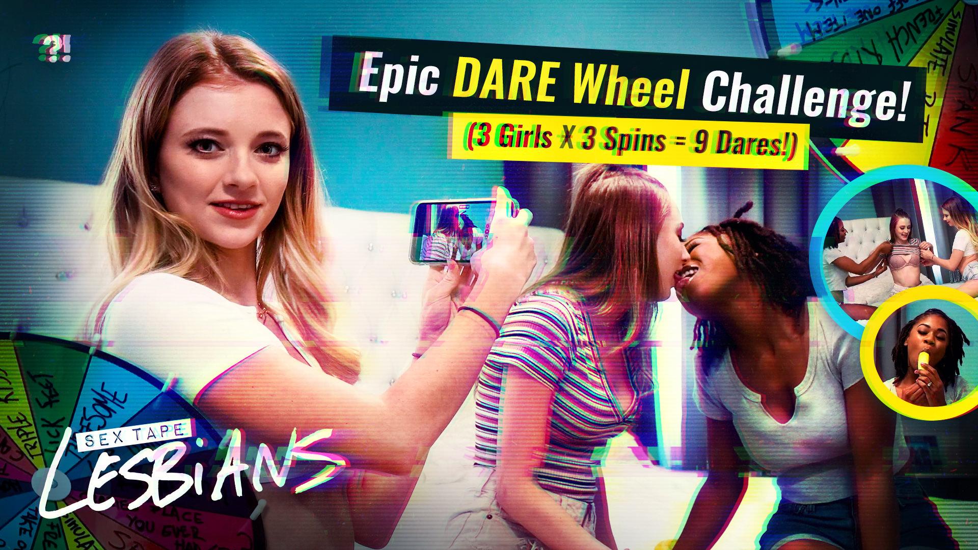 Epic DARE Wheel Challenge! (3 Girls x 3 Spins = 9 Dares!)