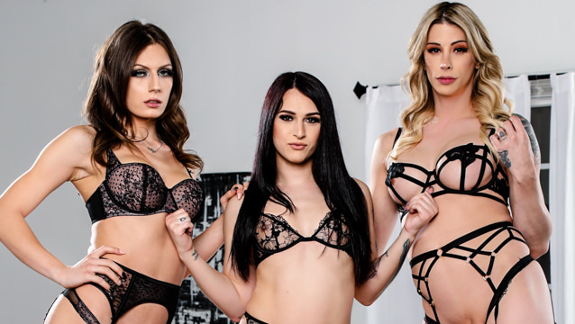 Take A Ride On The Trans Train #02 - Casey Kisses,  Khloe Kay & Jade Venus