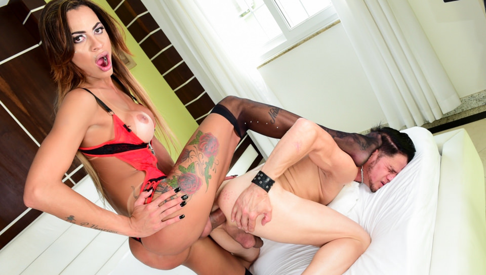Hung T-Girl & Latin Stud Bury Boners – Keylla Marques