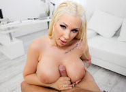 Busty Blonde Kyra's Titty Creampie