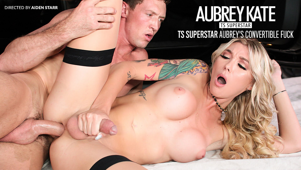 TS Superstar Aubrey's Convertible Fuck – Pierce Paris, Aubrey Kate