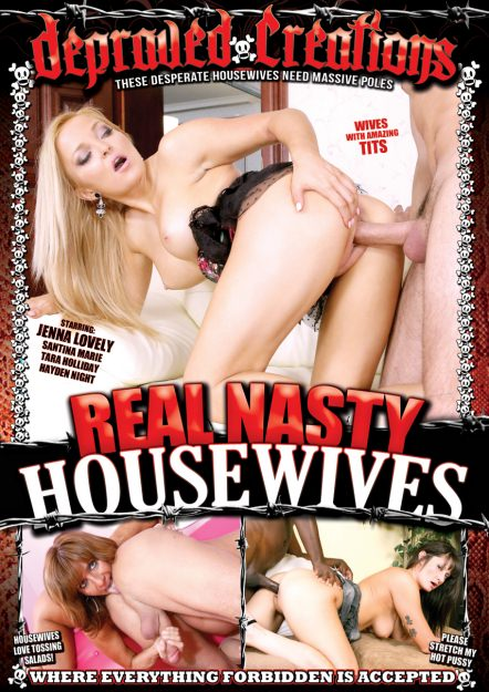 Nasty Housewives Porn - Real Nasty Housewives Dvd Cover