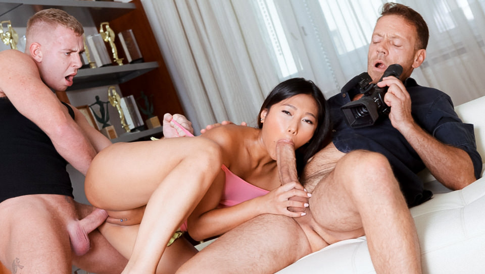 Asian May's Gaping Anal Threesome