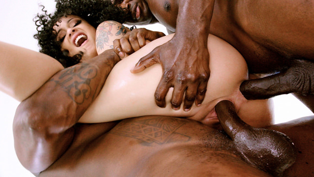 Black Holly's BBC Anal & DP Threesome!